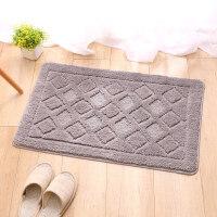 浴室地垫卧室居家脚垫柔软吸水地板垫家用门垫进门地毯垫子 DA8835 灰色