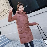 2018冬季新款羽绒棉衣女中长款韩版修身连帽学生棉袄加厚外
