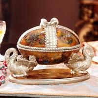 欧式复古奢华首饰盒梳妆盒珠宝饰品收纳盒高档软装饰品家居摆件