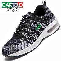 卡帝乐鳄鱼男鞋夏季透气网面飞织运动鞋韩版休闲鞋男士气垫跑步鞋