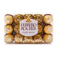 【爆品直降】费列罗FERRERO ROCHER牛奶巧克力制品30粒375g
