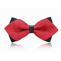 男士婚礼礼服韩式英伦蝴蝶结领结男士休闲衬衫三角红色领结