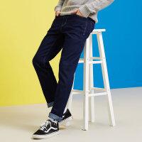 【狂欢返场,专区1件3折】美特斯邦威薄牛仔裤男修身直筒2018春季新款舒适休闲长裤帅气百搭