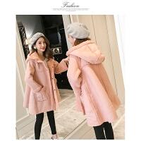 冬季新款中长款加厚保暖羊羔毛外套翻毛麂皮绒棉衣女韩版修身