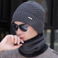 帽子男士冬季保暖毛线帽针织套头帽冬天青年棉帽骑车