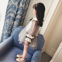 2018新款童装儿童连衣裙韩版大童春装纱裙小女孩裙子女童公主裙潮