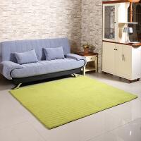 乐唯仕长方形防滑珊瑚绒地毯 加厚绗缝结婚地毯 珊瑚绒条纹地毯