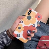 日系夏日花朵iphone手机壳XR苹果7/8plus全包硅胶软壳男女款 6/6s imd白底花朵