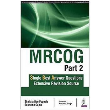 【预订】Mrcog Part 2: Single Best Answer Questions 9789352701049 美国库房发货,通常付款后3-5周到货!