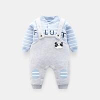 初生婴儿衣服套装宝宝保暖衣秋冬男女新生儿0-1岁背带裤小孩