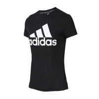Adidas阿迪达斯 女装 运动休闲透气圆领短袖T恤 DY7732