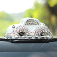 镶钻合金车模汽车香水座式车载车内饰品摆件高档装饰用品可爱创意