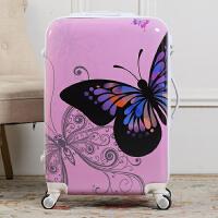 新款蝴蝶拉杆箱万向轮旅行箱包男女韩国潮流行李箱20寸24寸登机箱