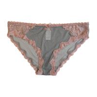 欧美蕾丝内裤女性感透明三角裤裆甜美少女学生底裤薄款夏