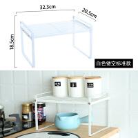 厨房用品铁艺分层置物架桌面储物架收纳橱柜内隔层分隔板单层锅架