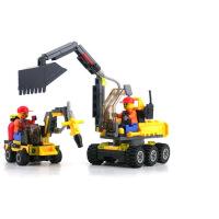 开智6092城市工程队儿童6-8-12周岁男孩塑料拼装拼插积木益智玩具