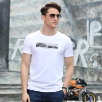 2019夏装新款吉普盾圆领短袖T恤衫 男士8859大码休闲时尚弹力polo衫