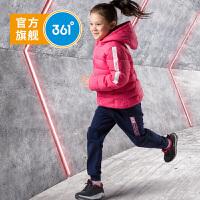 361度童装加绒加厚儿童羽绒服冬季新品女童羽绒服带帽运动休闲外套 K61843918