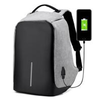 新款防盗双肩背电脑包男女士USB充电学生书包多功能手提笔记本包