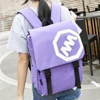 大学中学生电脑书包学院风双肩包旅行背包男包女包 紫色