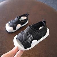 拥抱熊夏季新款网布幼童沙滩鞋 0-1岁儿童学步鞋男女宝宝运动凉鞋
