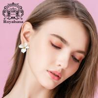 皇家莎莎耳饰复古韩国气质网红花瓣耳钉女花朵耳坠个性耳环饰品