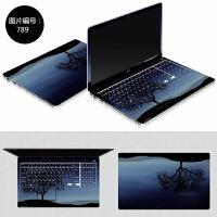 华硕15.6寸电脑贴纸N55 N550J笔记本贴膜N551外壳保护膜炫彩贴 SC-789 ABC三面