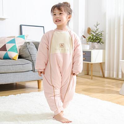婴儿宝宝分腿睡袋儿童防踢被春秋冬纯棉睡袋