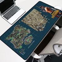 超大游戏鼠标垫定制LOL动漫卡通可爱超大号加厚锁边 电脑办公桌垫