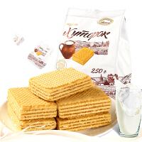 【促】阿孔特牌 俄罗斯进口小农庄威化饼干250g/袋
