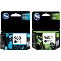 惠普原装正品 hp 960/960XL 喷墨打印机一体机墨盒 960黑色低容墨盒 960XL 黑色高容墨盒 适用 HP