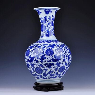景德镇陶瓷青花瓷花瓶 现代新中式摆件家居客厅装饰品 电视柜摆件 一般在付款后3-90天左右发货,具体发货时间请以与客服协商的时间为准
