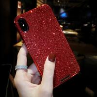 网红闪粉苹果X手机壳硅胶7plusiphone8p韩国6s新款个性创意女