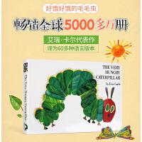 【包邮】英文原版绘本 The Very Hungry Caterpillar 好饥饿的毛毛虫 纸板翻翻洞洞书 美版 廖