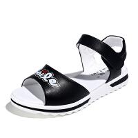 儿童凉鞋女童鞋子2018新款韩版夏季真皮中大童学生公主软底沙滩鞋SN5165 31码/鞋内长20.0CM 鞋内长20.