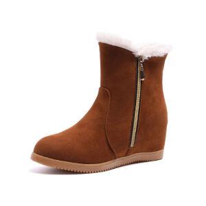 WARORWAR新品YM170-W305冬季韩版内增高女士雪地靴