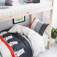 学生被套被罩床单三件套床上用品纯棉 学生宿舍 单人男生纯棉女生