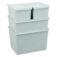 收纳箱塑料有盖整理箱衣服小号箱子零食盒子储物盒衣物收纳盒