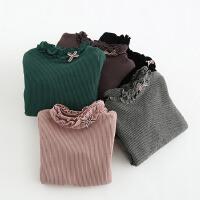 女童打底衫加绒加厚冬新款百搭保暖高领公主韩版时尚修身卫衣
