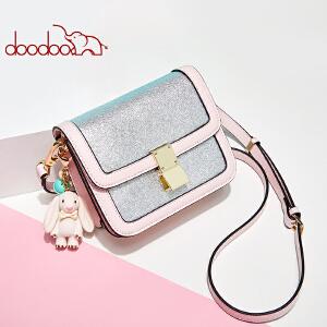 【限时1件3折价:149.7元】doodoo 包包女2019新款潮时尚手提包韩版简约斜挎包个性锁扣凯莉包D8665