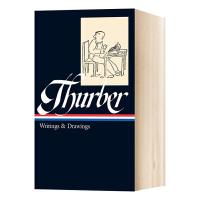 詹姆斯瑟伯 写作与绘画集 英文原版 Thurber Writings and Drawings 精装收藏 美国文库系列