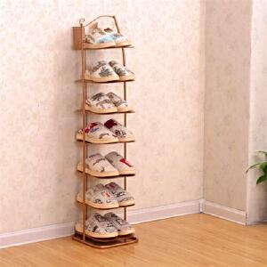 幽咸家居 小型鞋架简易单人鞋柜转角墙角省空间家用小号迷你大学生宿舍防尘