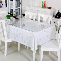 一套两用晶板餐台布茶几垫 套装】竹月阁PVC桌布+软质玻璃