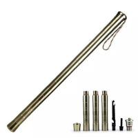 户外装备 多功能铝合金厚折叠棍棒 组合工具刀车载拼接棍 防身短棍