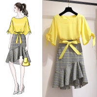 安妮纯连衣裙仙女超仙2020新款流行夏天裙子气质鱼尾裙小个子两件套装裙