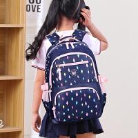 双肩包女孩中学生帆布书包小学生3-4五六年级校园背包