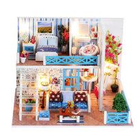 成人益智玩具�Y物女diy小屋�和�木�|3d立�w拼�D手工拼�b房子模型