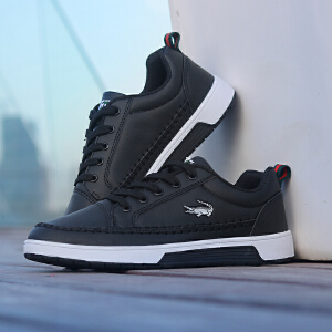 卡帝乐鳄鱼 2017冬季新款男鞋运动休闲鞋子男士旅游鞋新款潮流鞋韩版学生男板鞋