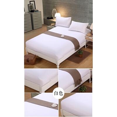 床笠床垫保护套子床垫罩子活性芦荟棉全包床套防滑 白色 白色