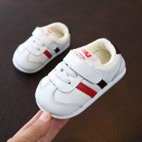 小宝宝休闲运动板鞋小白鞋2018冬款男婴儿软底学步鞋0-1-2岁